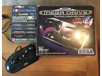 Sega Megadrive 10 Games and arcade stick