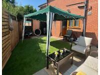 Garden furniture. Pop-up Gazebo. Shelter. Canopy. Sun shade