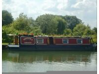 Narrowboat 45ft 4 berth converted to live aboard.