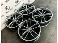 """BRAND NEW 19"""" AUDI RS STYLE ALLOY WHEELS - ALSO AVAILABLE WITH TYRES"""