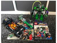 X2 Lego DC SUPERHERO sets- complete with instructions and figures