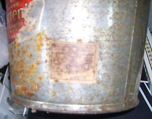 Vintage Shortening Steel Bucket with Lid Kingston Kingston Area image 3