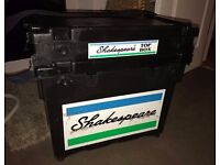 Shakespeare Match Fishing Seat Box 4 Draws w Shakespeare Top Box Great Condition