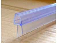 New Rubber Plastic Shower Screen Seal Strip For 4-6mm thick Glass Bath Door (upto 14mm gap)