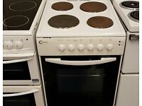 white 50cm electric cooker perfect working order