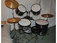 Cannon Adder 5 Piece Starter Drum Kit in colour 'Spun Metal'