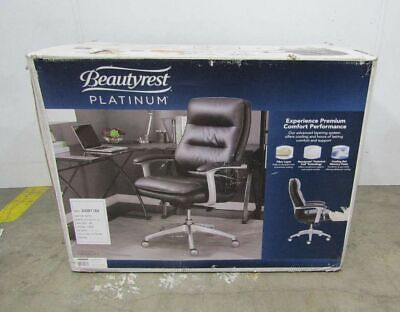 Beautyrest Platinum Executive Office Chair Bonded Leather Black, used for sale  Shipping to Nigeria