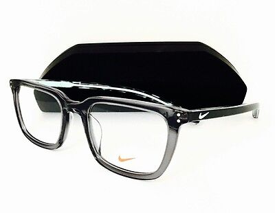 New NIKE Eyeglasses 37 KD 065 Matte Tumbled Grey/Green Glow 52•20•135 W/Case - Glow Eyeglasses