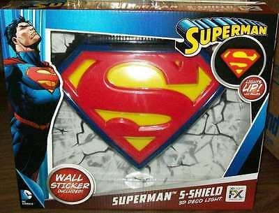 3DLightFX Super Man Logo Light NEW IN PACKAGE #soct16-310