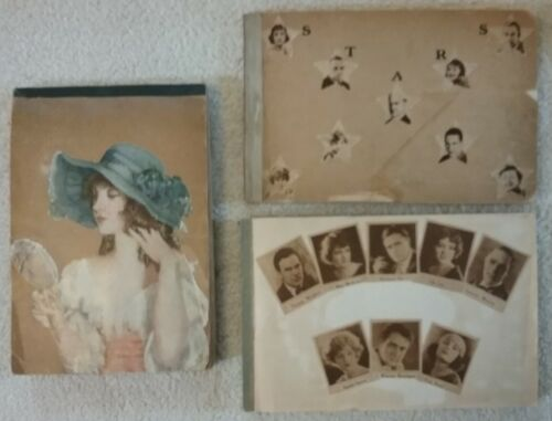 3 Vintage Silent Film Movie Star Scrapbooks 1917-24 Press Photos/Clippings 450+