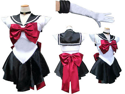Sailor Moon sailormoon cosplay kostüm sailor Pluto trista with Glove and Tiara