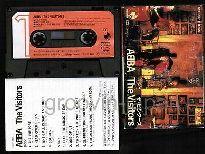 ABBA The Visitors JAPAN CASSETTE TAPE DCP-1807 w/SLIP CASE DIFFERENT COVER!