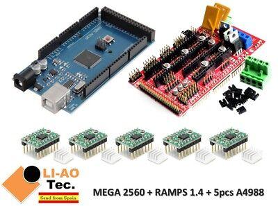 Mega 2560 R3 Ramps 1.4 Control Panel 5pcs A4988 Stepper Drive