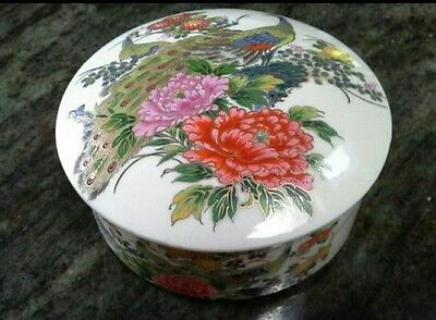 Vintage Porcelain Japanese Trinket Box - Andrea by Sadek Made in Japan