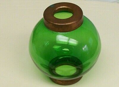 2.5'' green GLASS BALL for weathervane OR LIGHTENING RODS