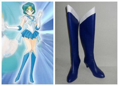 Sailormoon Sailor Moon Mercury Amy cosplay kostüm stiefels stiefel schuhe - Sailor Moon Mercury Kostüm
