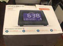 Moshi Digital Alarm Clock Radio Voice Controlled Quick Alarm Set Up Snooze Tech