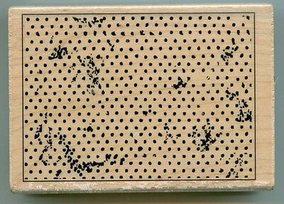Hampton Art rubber stamp DOTTED BACKGROUND wood mounted, PS0698 Texture