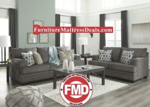 Brand new 2Piece set fabric sofa and love seat and cushions