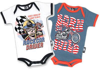 Baby Strampler Set - Hot Rod US Car Rockabilly Biker Chopper 0-3 / 3-6 Monate