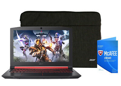 NEW Acer Nitro 15.6 GTX 1050 i5-7300HQ 3.5GHz 256GB SSD 8GB McAfee Gaming Bnd