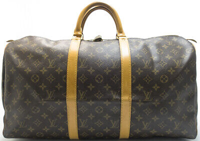 Louis Vuitton Duffle Bag (LOUIS VUITTON KEEPALL 50 TRAVEL BAG REISE DUFFLE WEEKENDER TASCHE BOSTON SUPER 2)