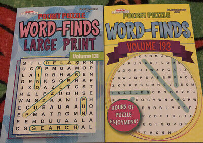 Pocket Puzzle Word Finds 2 Books Volumes 131 & 193 Paperback New Search Word