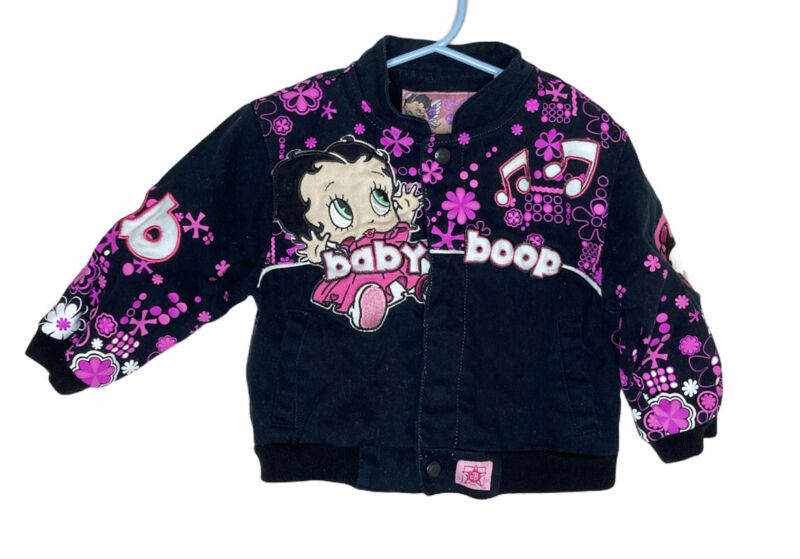 Rare Betty Baby Boop Authentic Jacket Music Baby 3T Embroidered So Cute Flowers