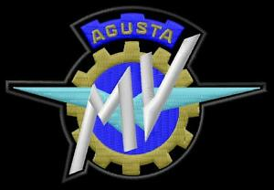 Mv agusta logo parche bordado iron on patch f3 f4 800 turismo veloce