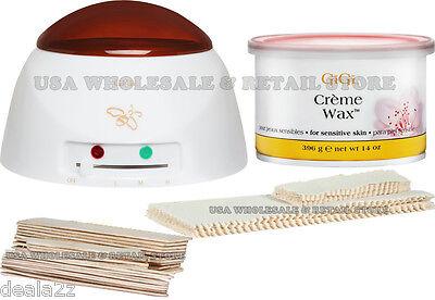 GiGi Student Creme Hair remover Wax Kit  Warmer Waxing Strips Sensitive Skin ()