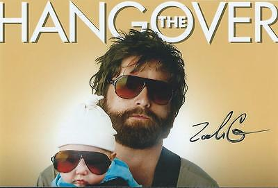 Zach Galifianakis Auto Signed Due Date Hangover Rare Coa Look