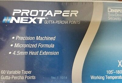 Protaper Next X5 Gutta Percha Points Dentsply Tulsa Dental Root Canal Endo