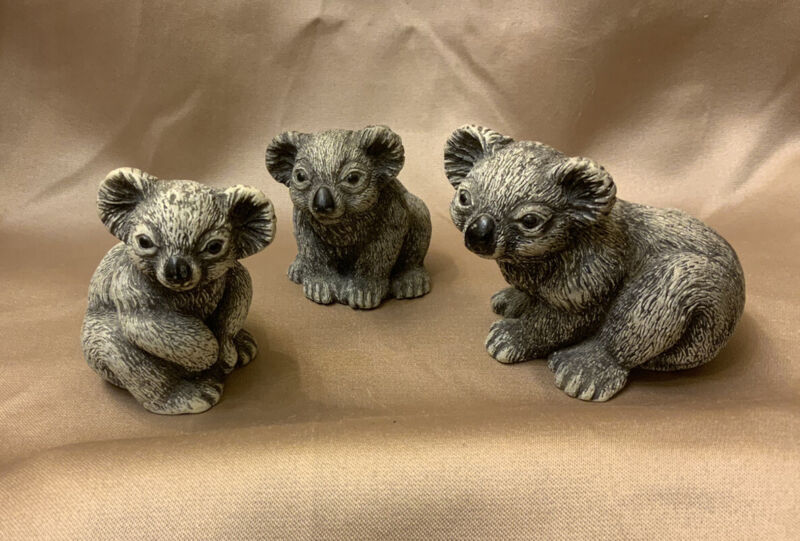 Set of 3 Koala Bear Figurines