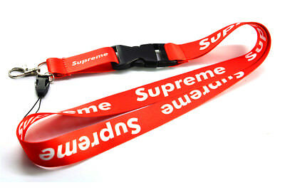 SUPREME RED Lanyard Neck Cell Phone Key Chain Strap Quick Release Brand New ](Red Lanyard)