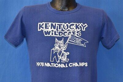 vtg 70s KENTUCKY WILDCATS 1978 NATIONAL CHAMPS NCAA BASKETBALL t-shirt COLLEGE S ()