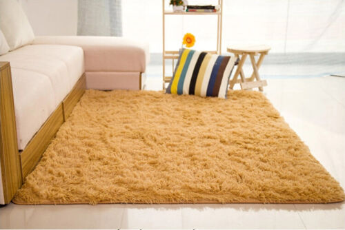 Large Fluffy Rugs Anti Skid Shaggy Area Rug Dining In Home Garden Rugs Carpets Area Rugs Ebay For Blanja