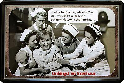 """""""Wir schaffen das"""" Angie Funny Witzig Satire Spruch 20x30 cm Blechschild 316"""