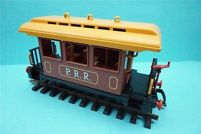 Playmobil Eisenbahn 4120 PRR P.R.R P R R, Personenwagen, Western, braun, Waggon