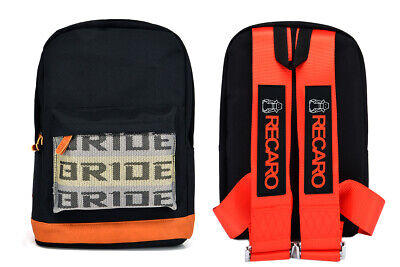 - New Bride Racing Backpack With RECARO Racing Harness Shoulder Strap Red