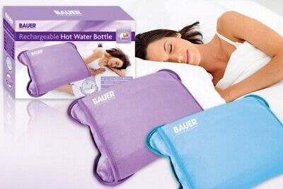 Bauer Rechargeable Electric Hot Water Bottle Heater Warmer Soft Touch Cover
