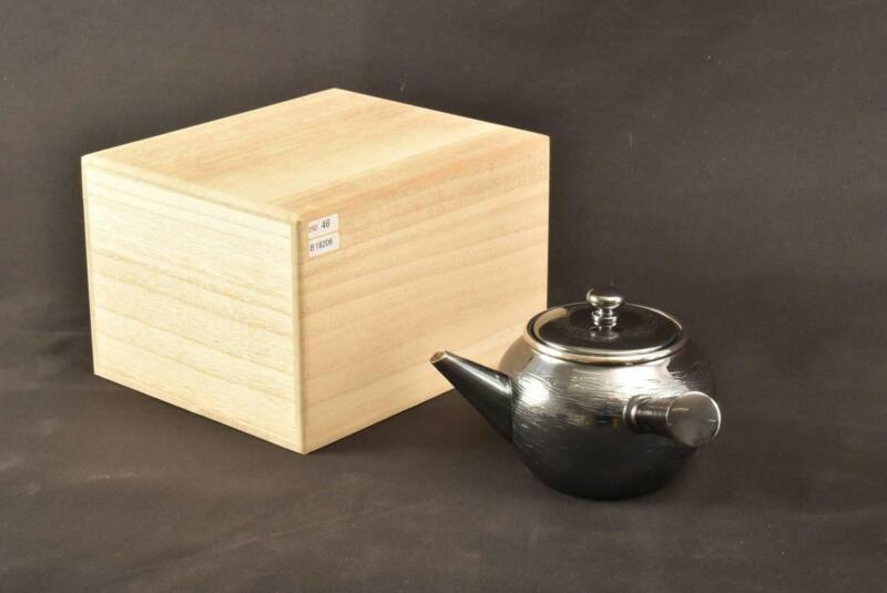 Japanese New Pure Silver Tea Kettle / W 17× H 9[cm] / Kyusu