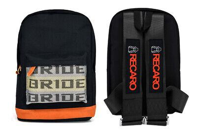 - New Bride Racing Backpack With RECARO Racing Harness Shoulder Strap Black