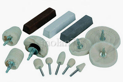 14 Piece ALUMINUM BUFFING POLISHING KIT Buffer ...