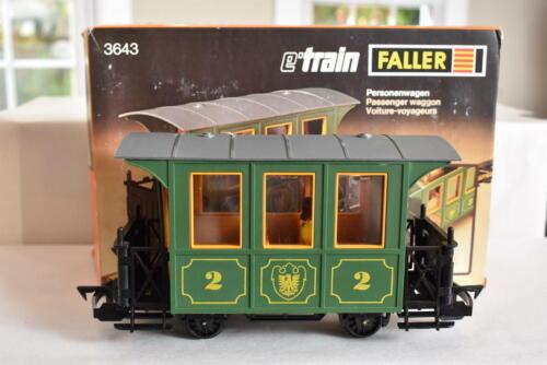 FALLER E-Train 3643 DB Deutsche Bahn 2nd Class Passenger Coach w/ Figures