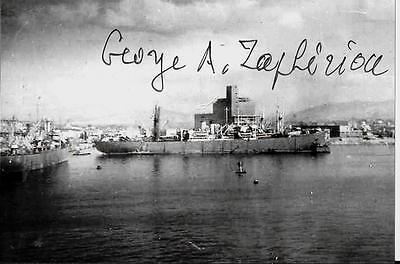 GEORGE ZAPHIRIOU GEORGIOS AVEROF GREEK NAVY WORLD WAR 2 VETERAN SIGNED PHOTO