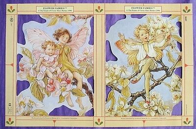 Victorian Scrap Paper Die Cut Flower Fairy Boy and Baby Cicely Mary Barker