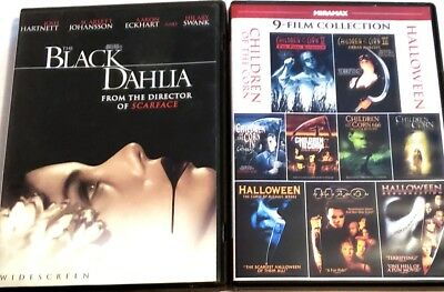 9-Film Children of the Corn & Halloween Collection + Black Dahlia DVDs - Halloween Children's Films