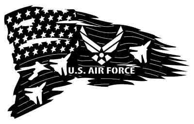 US Air Force Flag  DXF of PLASMA Laser Cut - CNC Vector DXF-CDR - AI Art file  Us Air Force Laser