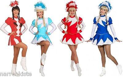 Funken Kostüm Garde Tanz Mariechen Uniform Damen Funkenkostüm Funkemariechen Hut
