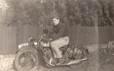 BSA Motorcycle UT7475 unused RP old pc (D)